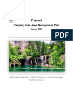 Proposed Forest Service Hanging Lake Management Plan