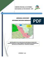 Memoria Resumen Estudio Hidrologico Ambito Del Proyecto FERIA