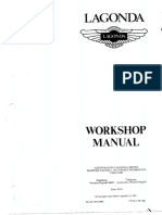 Aston Lagonda Workshop Manual