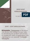 SIFAT-SIFAT WIRAUSAHAWAN