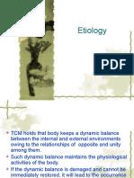 (6) Etiologyn