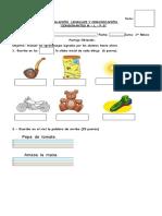 Evaluacion Consonantes m l s p