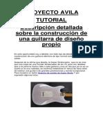 Construcción de Guitarra Eléctrica