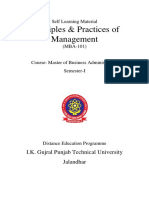 Principles & Practices of Management MBA