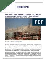 Sanciones Una Amenaza Creible Con Efectos Devastadores Por Alejandro Grisanti y Gorka Lalaguna