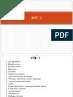 Java-UNIT 1