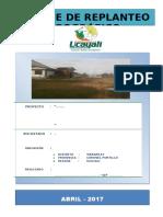1.Informe Replanteo Topográfico Pucallpa