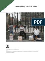 Qué Es El Desempleo y Cómo Se Mide en México