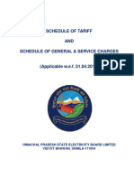 Schedule of Tariff 2017-18.PDF Himachal
