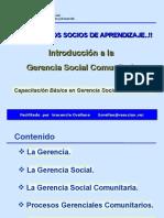 Introducción a La Gerencia Social