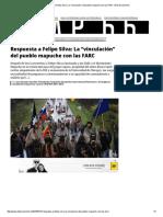 """Respuesta a Felipe Silva_ La """"Vinculación"""" Del Pueblo Mapuche Con Las FARC _ El Desconcierto"""