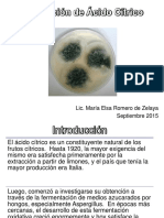 Acido Citrico Produccion