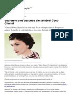 Secretele Bine Ascunse Ale Celebrei Coco Chanel