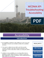 WCDMA Accessiblity KPIs