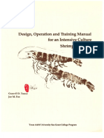 Design Operation and Training Manual for an Intensive Culture Shrimp Hatchery