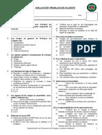Evaluación Trabajos en Caliente CGMC