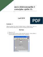 Praktikum Iz Elektroenergetike 2 - Laboratorijske Vjezbe 11