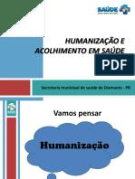 Treinamento Acolhimento e Humanizacao