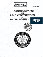 Irc 34 1970 Recommendations for Road Construction in Waterlogged Areas