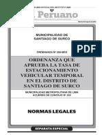 Normas Legales Separata Especia - Editora Peru