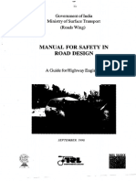 Manual for Safety in Road Design