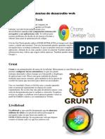 Herramientas de Desarrollo Web