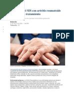 Pacientes Del SIS Con Artritis Reumatoide Cuentan Con Tratamiento