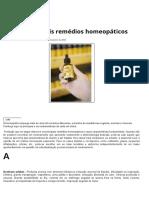 Os Principais Remédios Homeopáticos