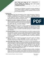 Instructivo Crítico de Apertura de Lineas y Equipos de Proceso