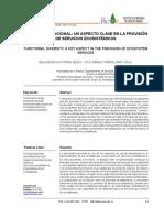 DIVERSIDAD FUNCIONAL- UN ASPECTO CLAVE EN LA PROVISIÓN DE SERVICIOS ECOSISTÉMICOS
