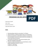 Programa Dia Del Deporte 2017