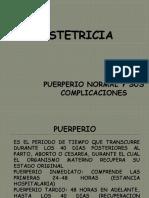 e) Puerperio