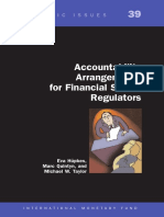Accountability Arrangements for Financial Sector Regulators