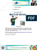 Evidence the Story of Bottled Water