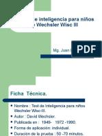 Test de Inteligencia Para Niños de Wechsler Wisc