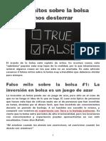 3 Falsos Mitos Sobre La Bolsa Que Debemos Desterrar