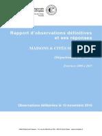 Maisons et cités-rapport