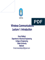 Wireless Communications Lec 1 Introduction