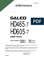 Manual de Operación HD605-7