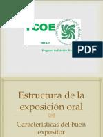 Estructura de La Exposicion Oral y Caracteristicas Del Buen Expositor