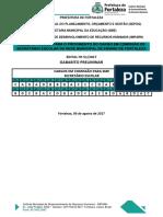 Gabarito Preliminar 51 2017