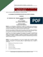 Ley Organica Del Tribunal Superior de Justicia Del Df