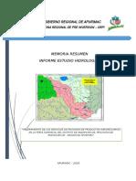Memoria Resumen Estudio Hidrologico ambito del proyecto FERIA.docx