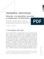 Atentados Terroristas. Derecho a La Integridad Personal y Condiciones de Detención. CF130291F1
