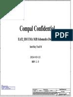 Compal La-b511p r1.0 Schematics