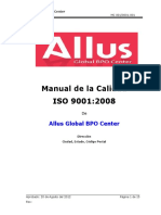 Manual de Calidad de Allus Global BPO Center