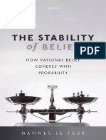 The Stability of Belief. How Rational Belief Coheres With Probability. Hannes Leitgeb