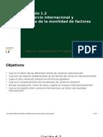 1.2 Comercio Internacional y Teoría de La Movilidad de Factores