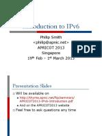 APRICOT2013 IPv6 Introduction