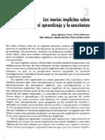 1 Las Teorías Implícitas Sobre El Aprendizaje y La Enseñanza. Pozo, J., Scheuer, N., Mateos, M. y Pérez, M